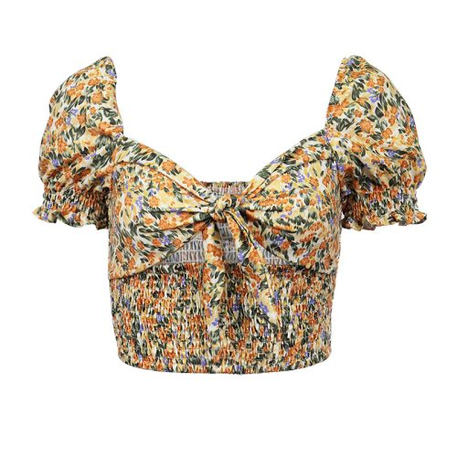 Floral-Puff-Sleeve-Corset-Top-OD001-5