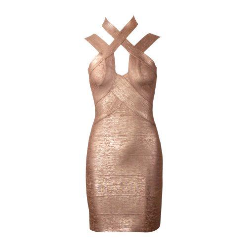 Hollow-Out-Halter-Metallic-Bandage-Dress-K1071-11