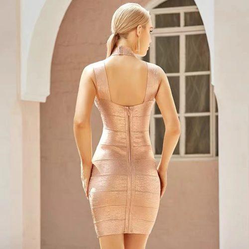 Hollow-Out-Halter-Metallic-Bandage-Dress-K1071-12