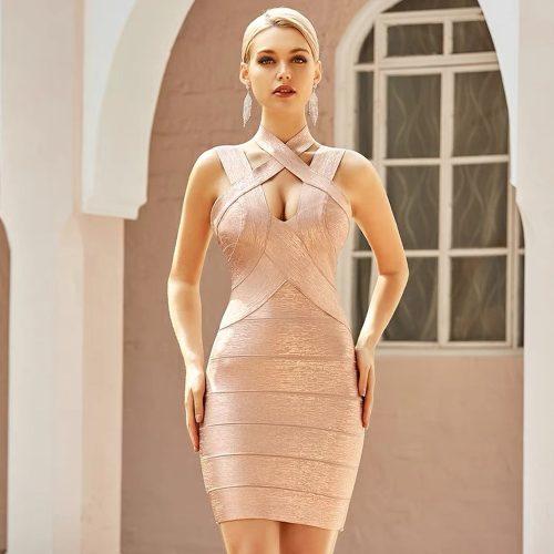 Hollow-Out-Halter-Metallic-Bandage-Dress-K1071-14