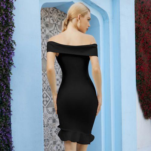 Off-Shoulder-Fishtail-Bandage-Dress-K1088-2