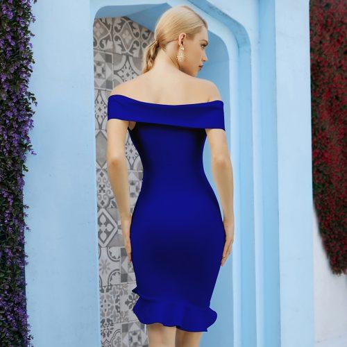 Off-Shoulder-Fishtail-Bandage-Dress-K1088-8
