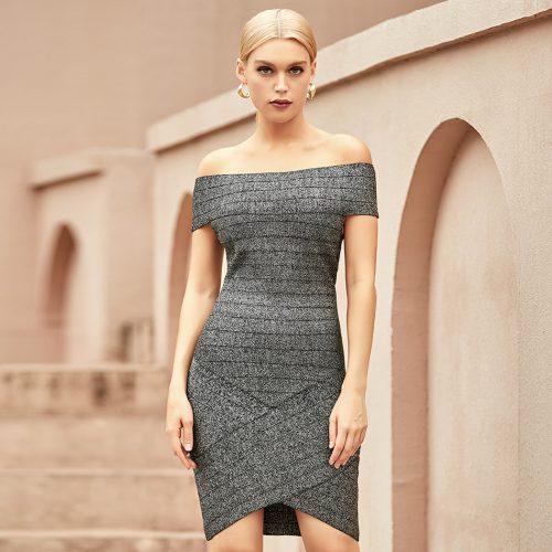 Off-Shoulder-Stripe-Bandage-Dress-K1065-1
