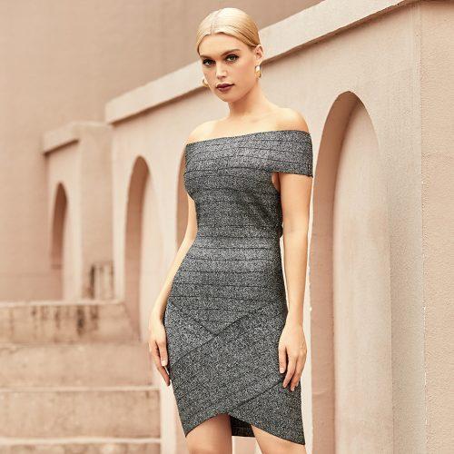 Off-Shoulder-Stripe-Bandage-Dress-K1065-2