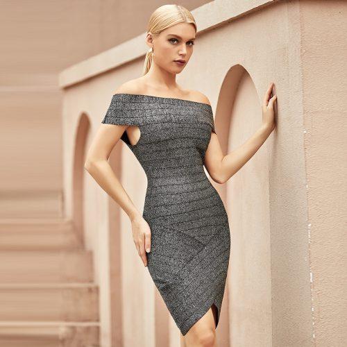 Off-Shoulder-Stripe-Bandage-Dress-K1065-4