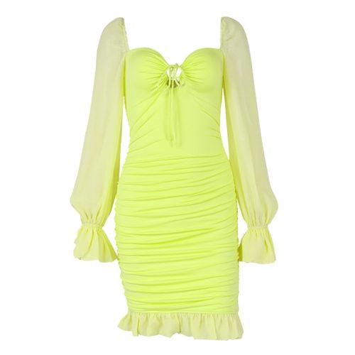 Puff-Sleeve-Bodycon-Dress-OD015-21