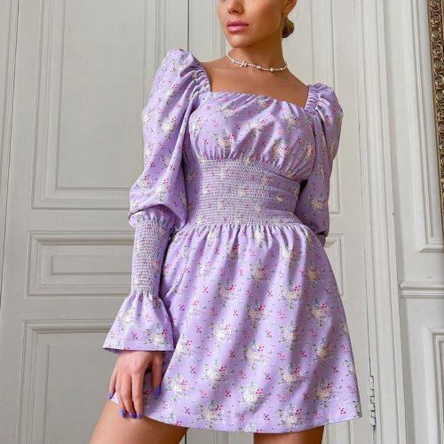 Puff-Sleeve-Floral-Dress-OD012-13