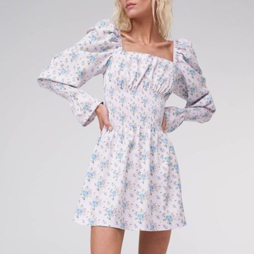 Puff-Sleeve-Floral-Dress-OD012-14
