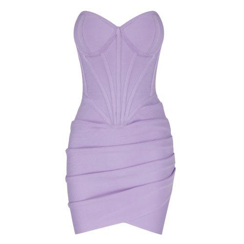 Strapless-Ruched-Bandage-Dress-K1077-28-副本