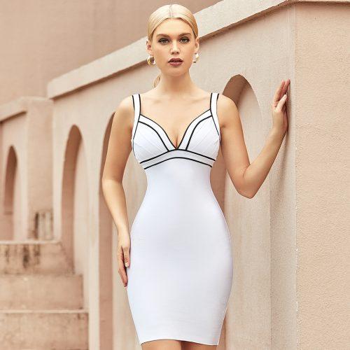 V-Neck-Stripe-Bandage-Dress-K1064-6