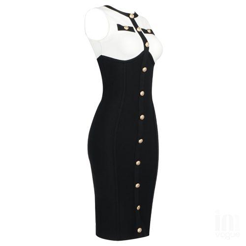 White-And-Black-Sleeveless-Bandage-Dress-K1102-13