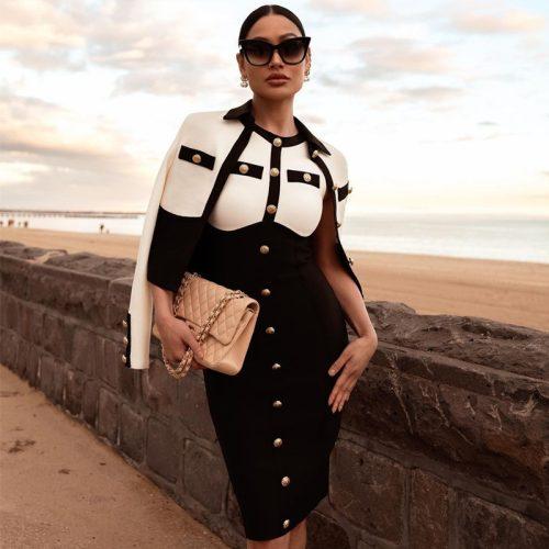 White-And-Black-Sleeveless-Bandage-Dress-K1102-4_副本