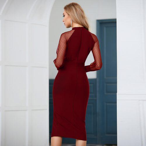 Long-Sleeve-Mesh-Bandage-Dress-B1206-3