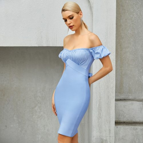 Off-Shoulder-Bandage-Dress-B1209-1