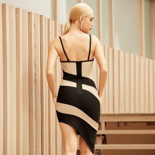Strap-Stripe-Bandage-Dress-B1208-3