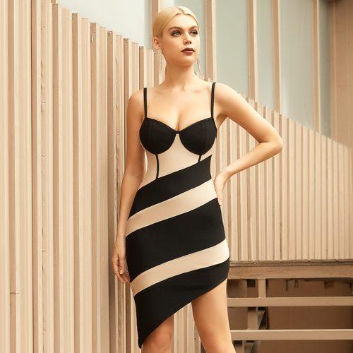 Strap-Stripe-Bandage-Dress-B1208-4