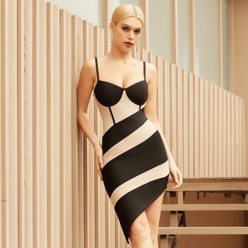 Strap-Stripe-Bandage-Dress-B1208-5