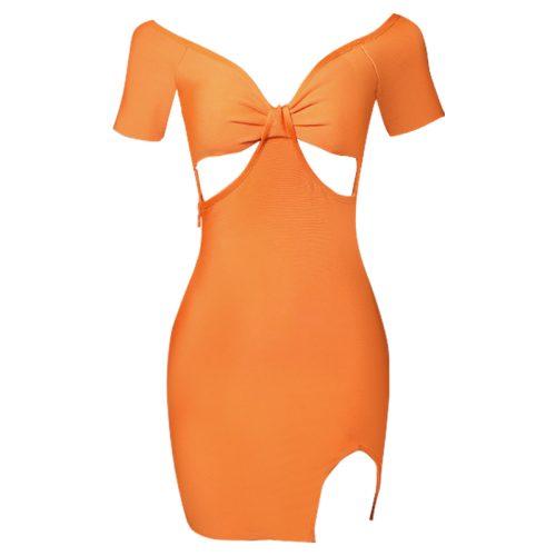 V-Neck-Hollow-Out-Bandage-Dress-B1215-2